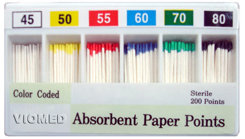 absorbent paper points, dental paper points